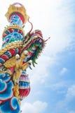 chiński smoka statuy styl zdjęcie stock