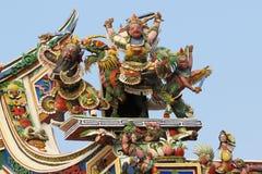 Chiński stiuk na dachu Obrazy Royalty Free