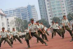 Chiński szkolenie wojskowe dla uczni 22 Zdjęcie Stock