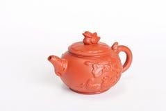 Chiński teapot od czerwonej gliny obrazy stock