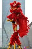 Chiński tradycyjny lwa taniec Obrazy Royalty Free