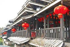 Chiński Tradycyjny most przy losem angeles Guilin, Guilin Zdjęcia Stock