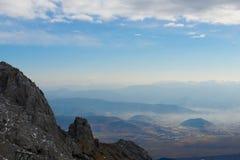 Chiński widok górski obraz stock