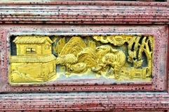 Chiński woodcarving Zdjęcia Stock