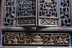 Chiński woodcarving Zdjęcia Royalty Free