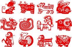 chiński zodiak Fotografia Royalty Free