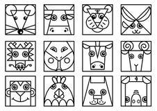 Chiński zodiak Zdjęcia Royalty Free