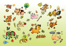 Chiński zodiak Obraz Stock