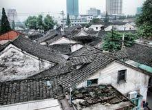 chińskich mieszkanie dachów tradycyjny potoczny Obraz Royalty Free