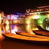 chińskie nocy sceny Obrazy Stock