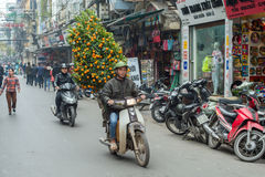 Chińskie nowy rok dekoracje w Wietnam Zdjęcia Royalty Free