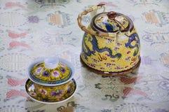 chińskiego garnka ustalona herbata Zdjęcie Royalty Free