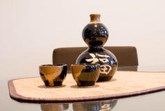 chińskiego odbicia ustalony wino Fotografia Royalty Free