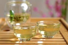 chińskiego portreta ustalony herbaciany tradycyjny widok Zdjęcia Stock