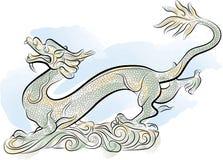 chińskiego smoka stary tradycyjny Obraz Royalty Free