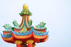 Chińskiego stylu dach Obrazy Stock