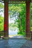 Chińskiego stylu pillards z widokiem Obrazy Royalty Free