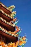 Chińskiego stylu smoka statua. Fotografia Stock