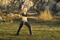 chi tai πάρκων γυναίκα Στοκ εικόνες με δικαίωμα ελεύθερης χρήσης