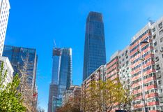 Chi van drie de Grote Torenspeking van het Wolkenkrabbersworld trade center Z15 Stock Afbeeldingen