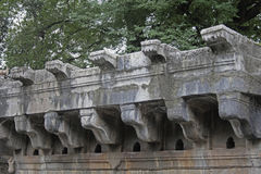 'chi' Vihir di Bara Mota, storico bene al villaggio dell'arto, Satara, maharashtra, India fotografie stock