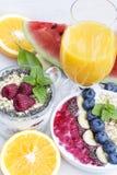 Chia και μούρο smoothy στοκ εικόνες με δικαίωμα ελεύθερης χρήσης