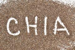 Chia осеменяет предпосылку Стоковые Фотографии RF