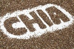 chia предпосылки осеменяет слово стоковое изображение rf