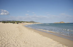 Chia beach. South of Sardinia, Italy royalty free stock image