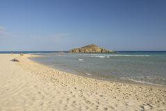 Chia beach. South of Sardinia, Italy royalty free stock photography