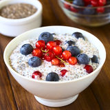 Chia and Berry Pudding Stock Images