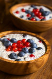 Chia and Berry Pudding Royalty Free Stock Photos