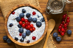 Chia and Berry Pudding Stock Photo