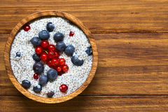 Chia and Berry Pudding Stock Photography