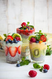 Chia and berry smoothies Royalty Free Stock Image