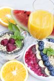 Chia and berry smoothy royalty free stock images