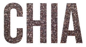 Chia. Seeds text banner with copyspace royalty free stock photo