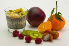 Chia-dessert-fruits-3 foto de stock
