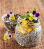 Chia frö och yoghurtpudding Royaltyfri Foto