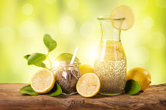 Chia fresca. Natural energy drink Stock Photo