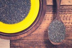 Chia-Gelee und chia Samen Lizenzfreie Stockbilder