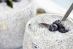 Chia Pudding Photo libre de droits