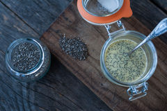 Chia Pudding Fotografie Stock