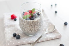 Chia pudding stock photo