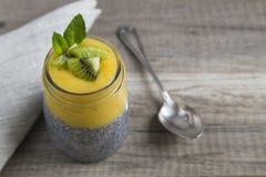 Chia Pudding mit Kiwi Lizenzfreies Stockbild