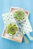 Chia pudding z kiwi Fotografia Stock