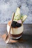 Chia pudding z ryżową owsianką Zdjęcie Royalty Free