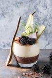 Chia pudding z ryżową owsianką Fotografia Royalty Free