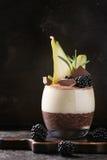 Chia pudding z ryżową owsianką Obrazy Stock