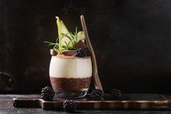 Chia pudding z ryżową owsianką Obraz Stock